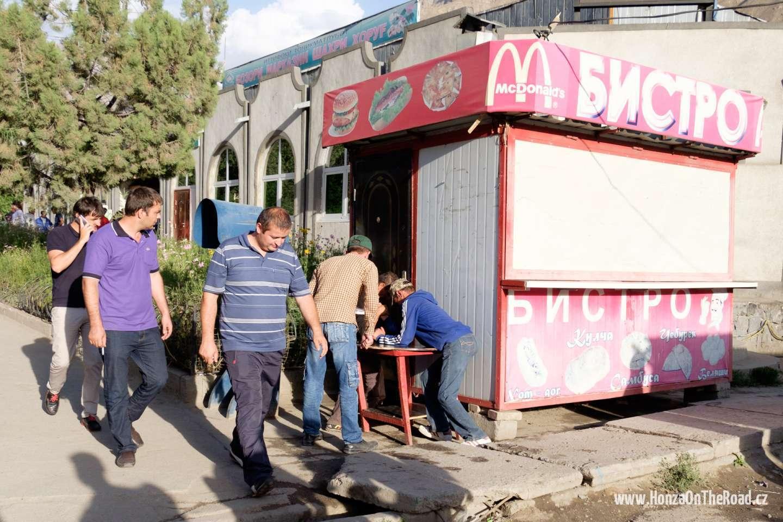 Tádžikistán, McDonald's v Chorogu - Tajikistan, McDonald's in Khorogh