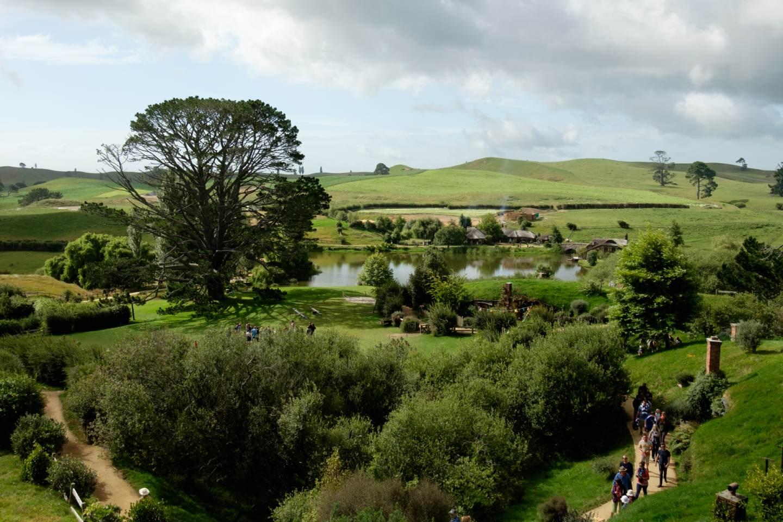 Nový Zéland, Hobitín vyrostl na místě venkovské farmy / New Zealand, Hobbiton was built on a countryside farm