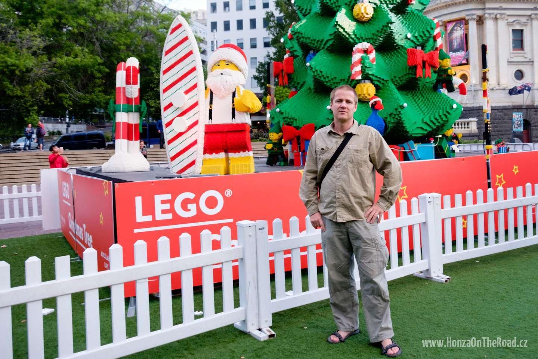Nový Zéland, Auckland, Vánoční strom z Lega - New Zealand, Auckland, Lego Christmas Tree