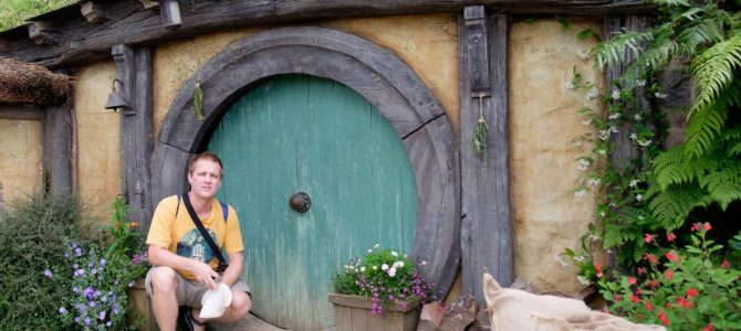 Za Pánem prstenů do Hobitína / Hobbiton as featured in The Lord of the Rings movie